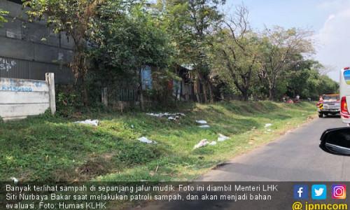 Menteri LHK Patroli Sampah di Jalur Mudik