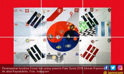 Jersey Peserta Piala Dunia 2018 Dijadikan Bendera Korsel