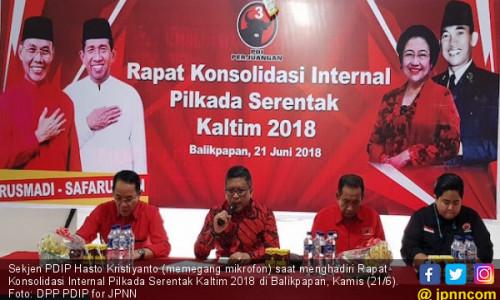 Hasto Optimistis Jago PDIP di Pilgub Kaltim Bakal Berjaya