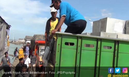 Logistik Pilgub Jatim Mulai Didistribusikan ke Kepulauan
