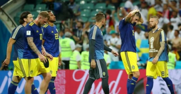 Swedia menelan kekalahan 1-2 dari Jerman di laga kedua babak penyisihan grup F Piala Dunia 2018. Foto: Reuters