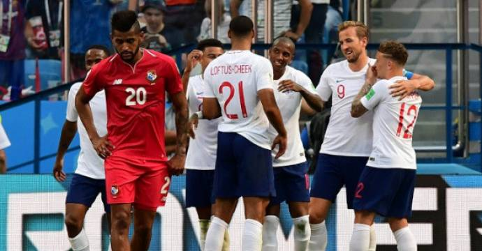 Inggris memastikan diri lolos ke babak 16 besar Piala Dunia 2018 dengan sebuah kemenangan besar atas Panama. Foto: AFP