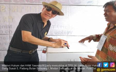 Menteri Yasonna Mudik demi Mencoblos Jagonya di Pilgub Sumut