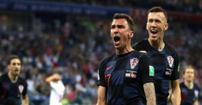 Mario Mandzukic (depan). Foto: HNS