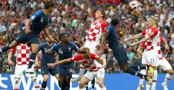 Prancis mengalahkan Kroasia pada final Piala Dunia 2018. Foto: FIFA