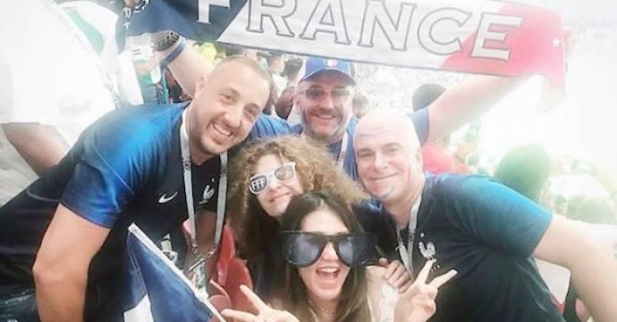 Via Vallen saat berada di final Piala Dunia 2018, Minggu (15/7). Foto: Instagram/viavallen