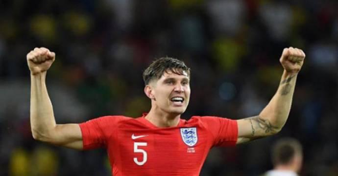 Bek Manchester City, John Stones tak tergantikan di timnas Inggris selama Piala Dunia 2018. Foto: AFP