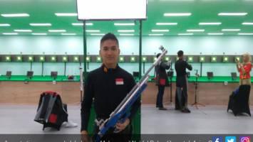Anggota timnas menembak Indonesia Muhammad Noufal Rahardika untuk Asian Games 2018. Foto: Inasgoc