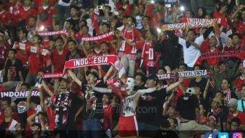 Suporter Timnas Indonesia U-23. Foto: Chandra Satwika/Jawa Pos
