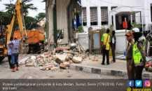 Ganggu Estetika Kota, 3 Pos Polisi di Medan Dibongkar Paksa