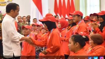 Presiden Jokowi menerima rombongan atlet Asian Para Games di Istana Bogor. Foto: Biro Pers Setpres