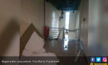 Plafon Kantor Disdukcapil Kabupaten Bekasi Ambruk