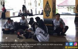 Tidak Percaya Jokowi, Honorer K2: Insyaallah Presiden Baru - JPNN.COM