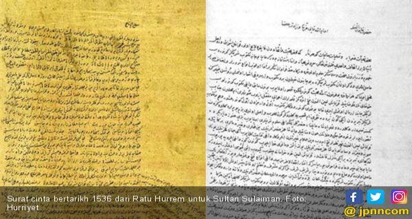 Surat Cinta Lawas Mantan Selir Buat Sultan Ottoman Romantis
