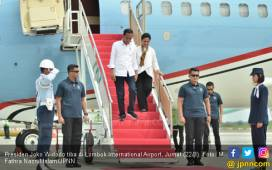 Kunjungi NTB, Jokowi Disambut #LombokTotalJokowiAmin - JPNN.COM