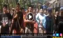 Viral Video Santri Banten Siap Mati Kawal Prabowo Sambil Bawa Bambu Runcing