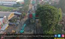 Cor Beton Proyek Jalan Tol BORR Tumpah