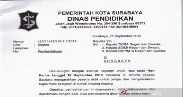 Demo Hari Ini Di Surabaya Bakal Besar Besaran Anak Stm