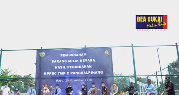 Bea Cukai Pangkalpinang Musnahkan Jutaan Barang Ilegal - JPNN.com