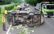 Pecah Ban, Mobil Buah Terbalik di Tol Tangerang-Merak - JPNN.COM