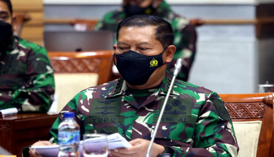Kasal Laksamana TNI Yudo Margono mengikuti rapat kerja dengan Komisi I DPR, Jakarta, Rabu (1/9). Foto: Ricardo - JPNN.com