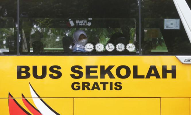 Pelayanan Bus Sekolah Gratis