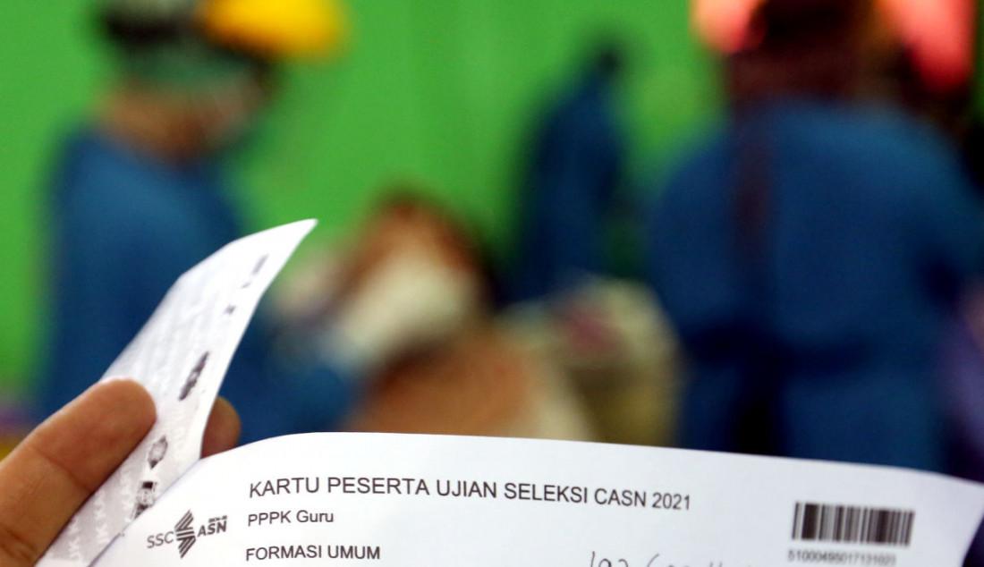 Kartu Peserta Ujian Seleksi CASN 2021. Foto: Ricardo - JPNN.com