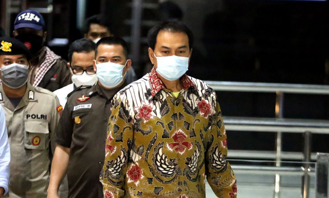 Wakil Ketua DPR Azis Syamsuddin Jalani Pemeriksaan Perdana Sebagai Tersangka