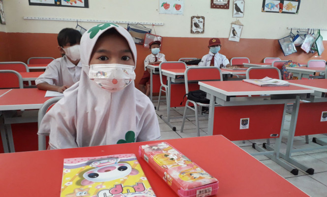 Simulasi Pembelajaran Tatap Muka Terbatas di Kota Depok