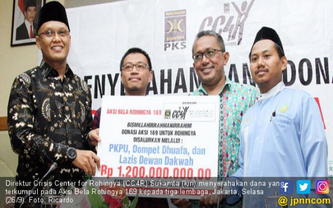 Aksi Bela Rohingya 169 Salurkan Rp 1,2 M - JPNN.COM