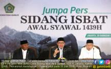 Pemerintah Tetapkan 1 Syawal Pada 15 Juni 2018 - JPNN.COM