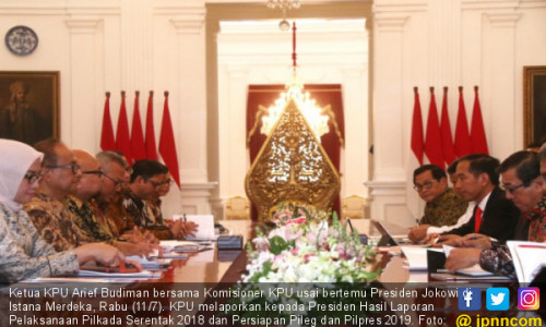 KPU Bertemu Presiden Joko Widodo