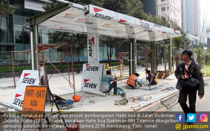 Proyek Penataan Halte Sudirman - Thamrin - JPNN.COM