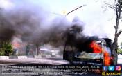 Konsleting, Mobil Pick Up Ludes Terbakar - JPNN.COM