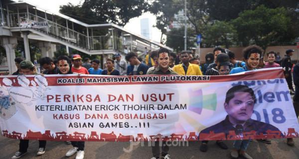 Mahasiswa Tuntut KPK Usut Kasus Korupsi Royalty Fee Asian Games 2018 - JPNN.com