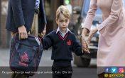 Hari Pertama Sekolah Pangeran George Hanya Diantar Ayah - JPNN.COM