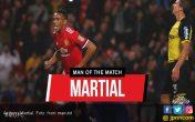 Anthony Martial jadi Man of the Match MU vs Burton - JPNN.COM