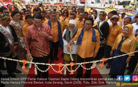 OSO Meresmikan Pemakaian Kantor Baru Partai Hanura di Banten - JPNN.COM