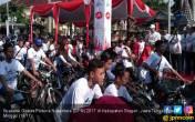 Sragen Pecah Rekor GPN, Menpora Gowes Pakai Pakaian Pejuang - JPNN.COM