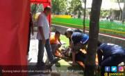 Anak SD Belajar Keselamatan Dengan Mendatangkan Buaya - JPNN.COM