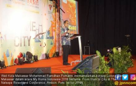 Danny Pomanto Beber Konsep Lorong Garden Makassar di Ambon - JPNN.COM