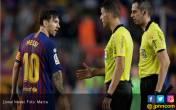 Kecewa, Lionel Messi Tolak Bersalaman dengan Wasit - JPNN.COM